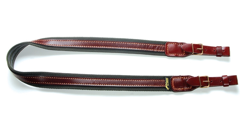 VEKTOR Ремень для ружья из полиамидной ленты шириной 35 мм и кожаными накладками