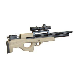 Пневматическая PCP винтовка Атаман M2R буллпап, ложе софттач пустыня