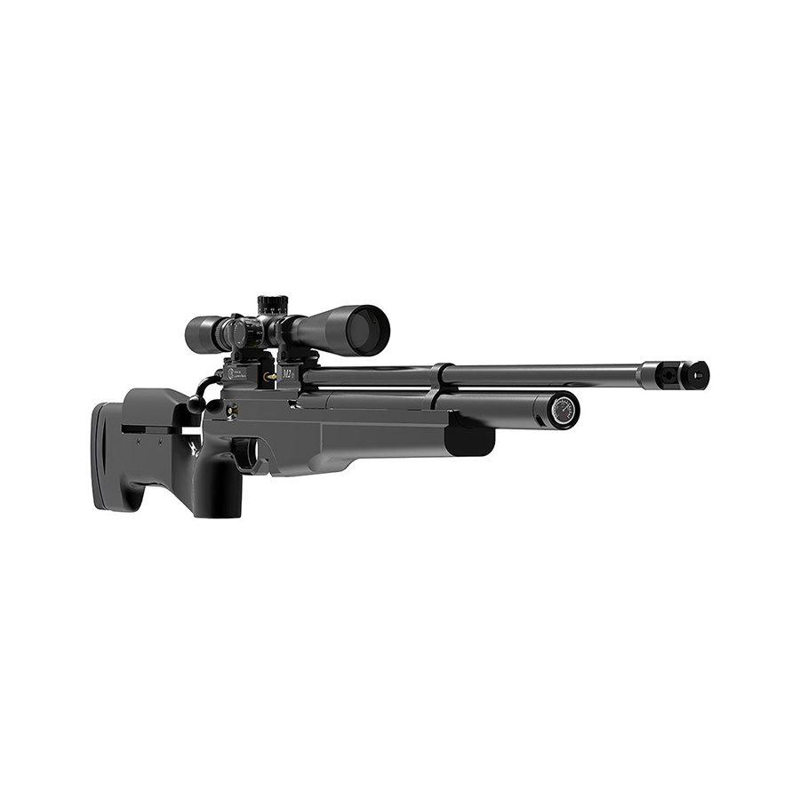 Пневматическая PCP винтовка Атаман M2R Tactical (тактическая), ложе черный софттач