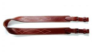 VEKTOR Ремень для ружья из натуральной кожи с узорной растрочкой и подкладкой из велюра