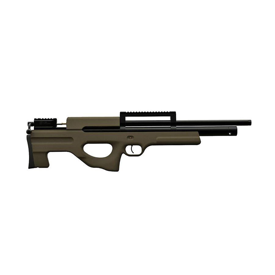 Пневматическая PCP винтовка Атаман M2R буллпап, ложе софттач хаки